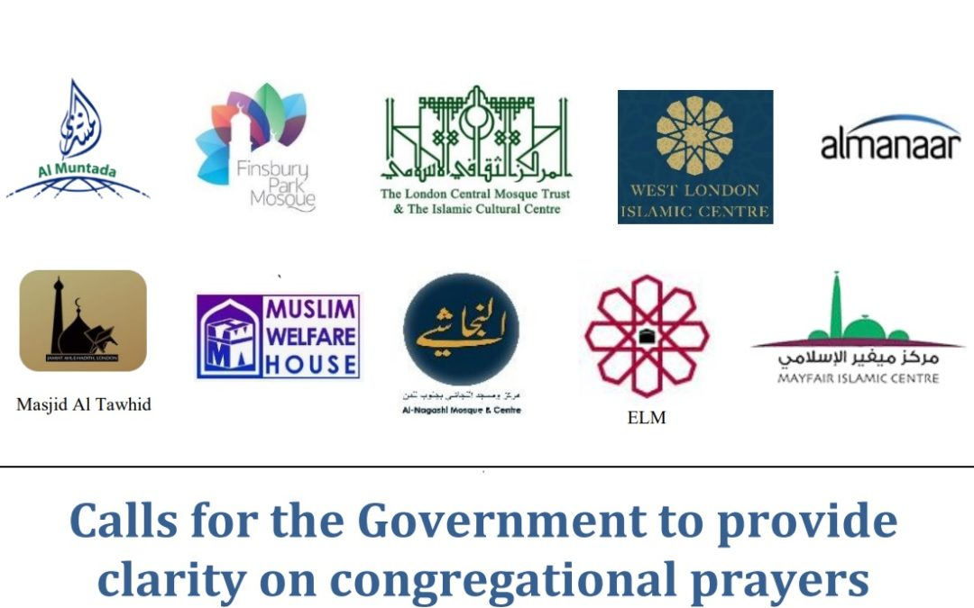 Calls for the Government to provide clarity on congregational prayers