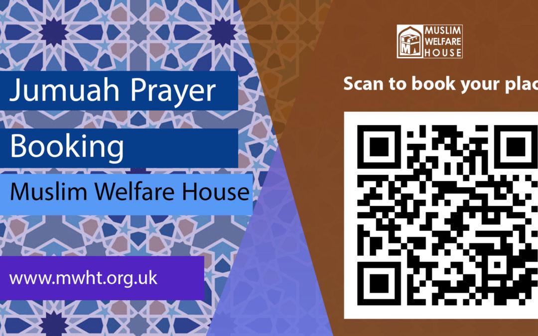 Book your JUMUAH place online