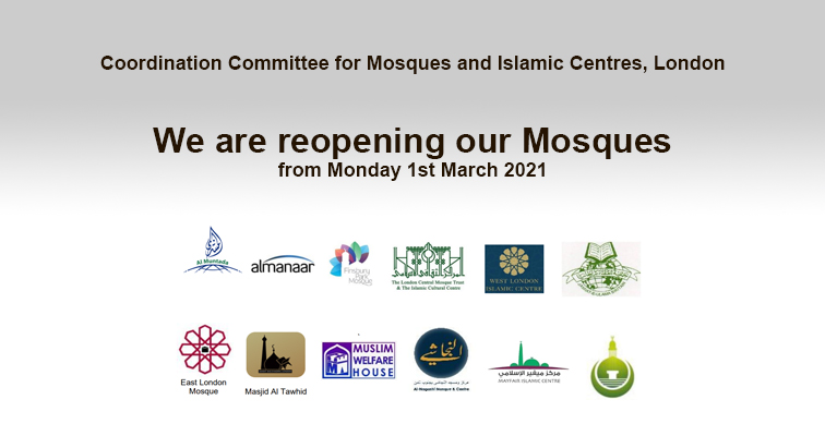 We are reopening our Mosques